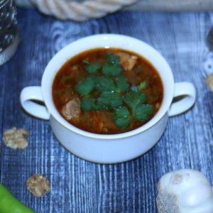 Суп харчо из говяжьей грудинки